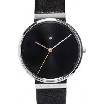 Leather Strap Dimension Steel Sapphire Watch