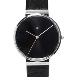 Leather Strap Dimension Steel Sapphire Watch - jewellery for men