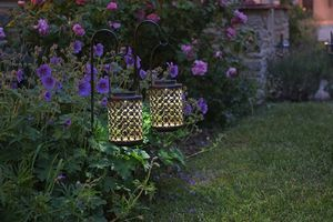 Solar Riad Garden Lanterns / Set Of Two - lights & lanterns