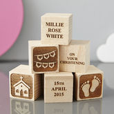 Personalised Christening Gift Building Blocks - parties