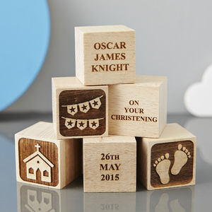 Personalised Christening Star Building Block - keepsakes