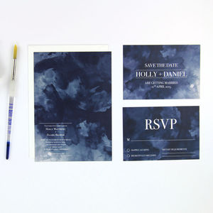Turner Watercolour Wedding Stationery - invitations
