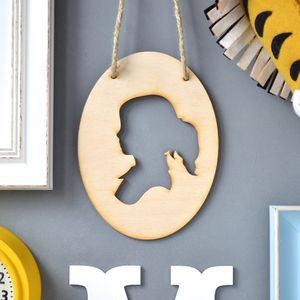 Personalised Children's Oval Silhouette Artwork - baby's room