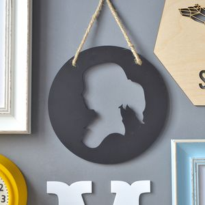 Personalised Children's Circular Silhouette Artwork - wall hangings for children