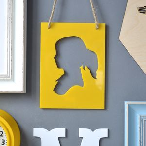 Personalised Children's Silhouette Artwork - wall hangings for children
