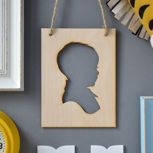 Personalised New Baby Silhouette Artwork - wall hangings for children