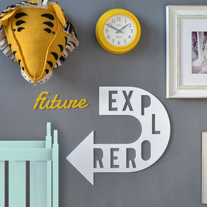 'Future Explorer' Children's Room Wall Sign - wall hangings for children