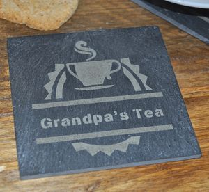 Personalised Tea Slate Coaster - placemats & coasters