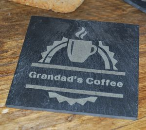 Personalised Coffee Slate Coaster - view all father's day gifts
