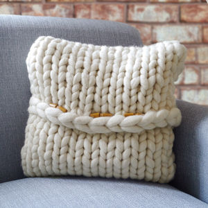 Hartland Chunky Knitted Cushion