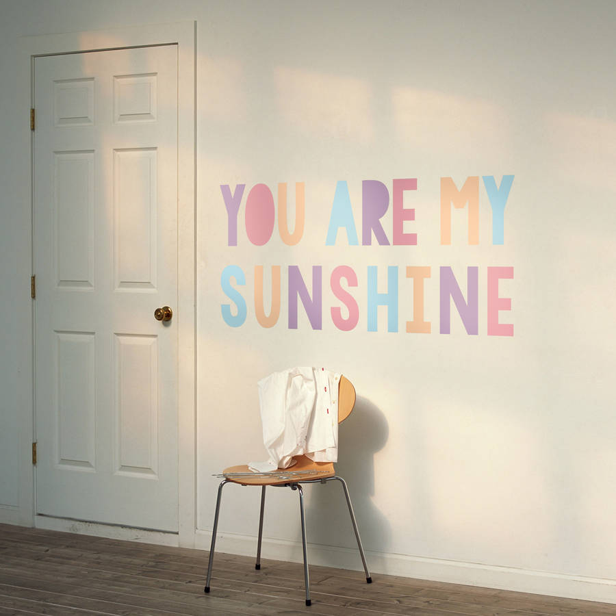 You are my sunshine pastel childrens wall sticker by oakdene you are my sunshine pastel childrens wall sticker amipublicfo Image collections