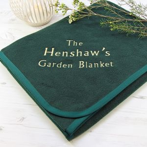 Personalised Garden Blanket - gifts for families