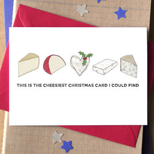 Cheesy Christmas Card - christmas card packs