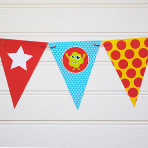 Monster Themed Reversible Bunting