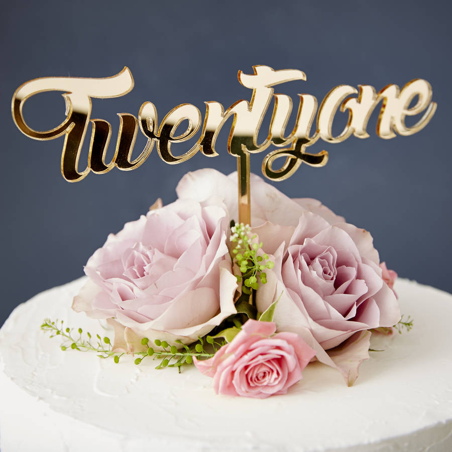 twenty one birthday cake topper by sophia victoria joy ...
