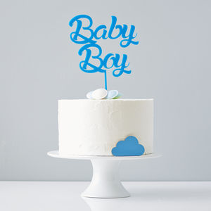 'Baby Boy' Baby Shower Cake Topper - cake decoration