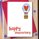 Hot Air Balloon Anniversary Card
