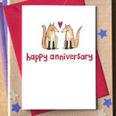 Foxes 'Happy Anniversary' Card