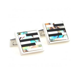 Abalone/ Mother Of Pearl Shell Cufflinks - men's jewellery