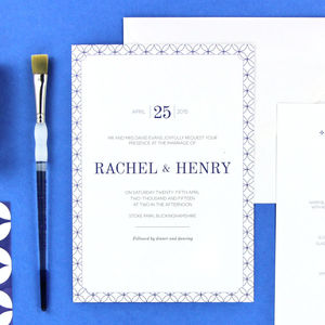 Henry Wedding Stationery - invitations