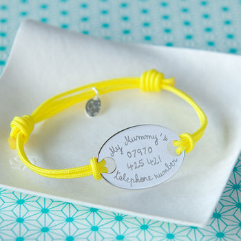 Children's Personalised Oval Plate Bracelet