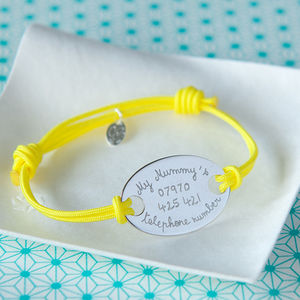 Children's Personalised Oval Plate Bracelet - bracelets & bangles