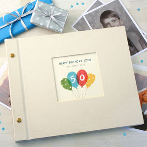 Personalised Birthday Age Photo Album - photo albums
