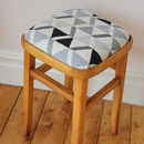 Grey graphic print stool