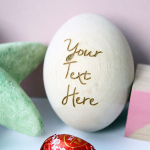 Personalised Quote Wooden Egg
