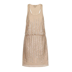Pippa Sequin Drop Waist Dress - women's fashion
