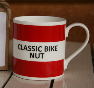 'Classic Bike Nut' Fine Bone China Mug