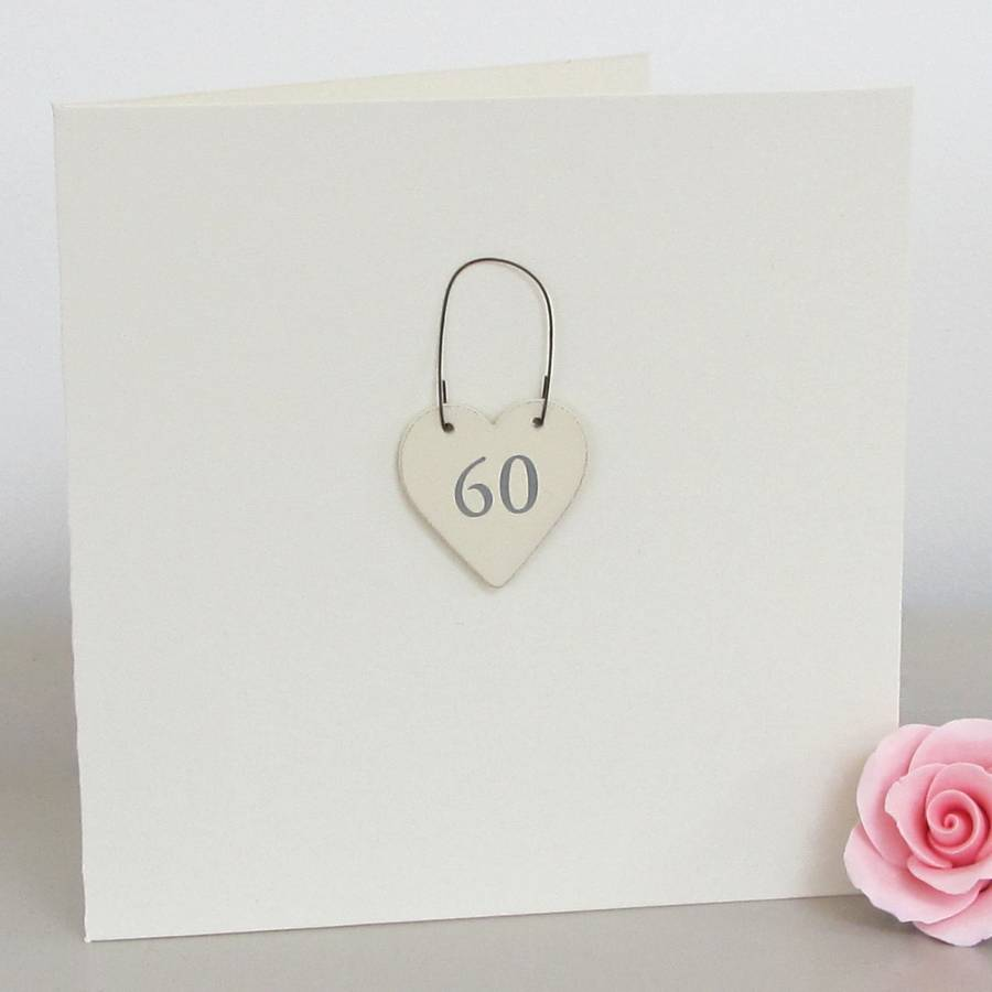 60th Handmade Birthday Card