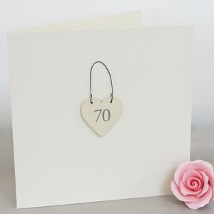 '70th' Handmade Birthday Card