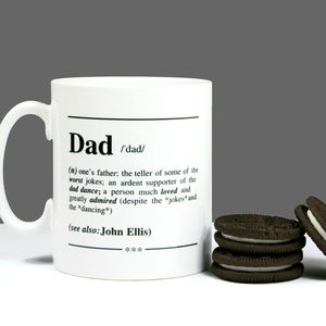 Personalised 'Dad' Definition Gift Mug