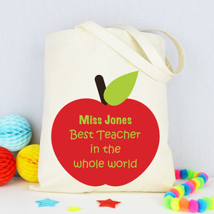 Personalised 'Best Teacher' Bag - gifts for teachers