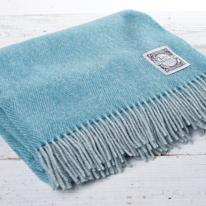 Herringbone Lambswool Blanket Bright Collection - picnics & barbecues