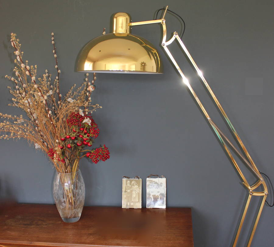 Golden Floor Lamp By The Forest Amp Co Notonthehighstreet Com