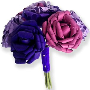 Paper Roses Origami Bouquet - room decorations
