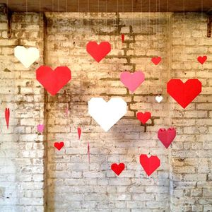 Paper Hearts Origami Backdrop - room decorations