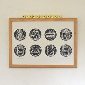 Kitchenalia Screen Print - modern & abstract