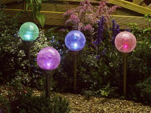 Solar Majestic Garden Stake Lights / Set Of Four - lights & lanterns