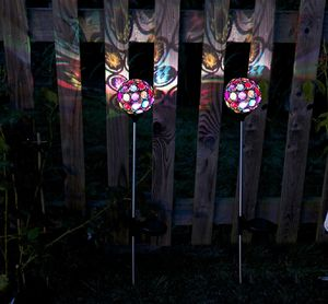 Solar Multi Gem Garden Stake Lights / Set Of Two - lights & lanterns