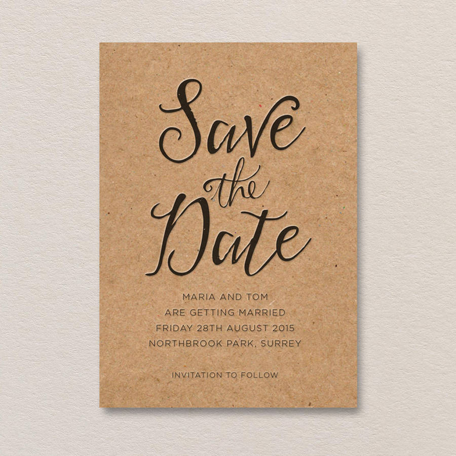 Calligraphy Letterpress Save The Date By Print For Love