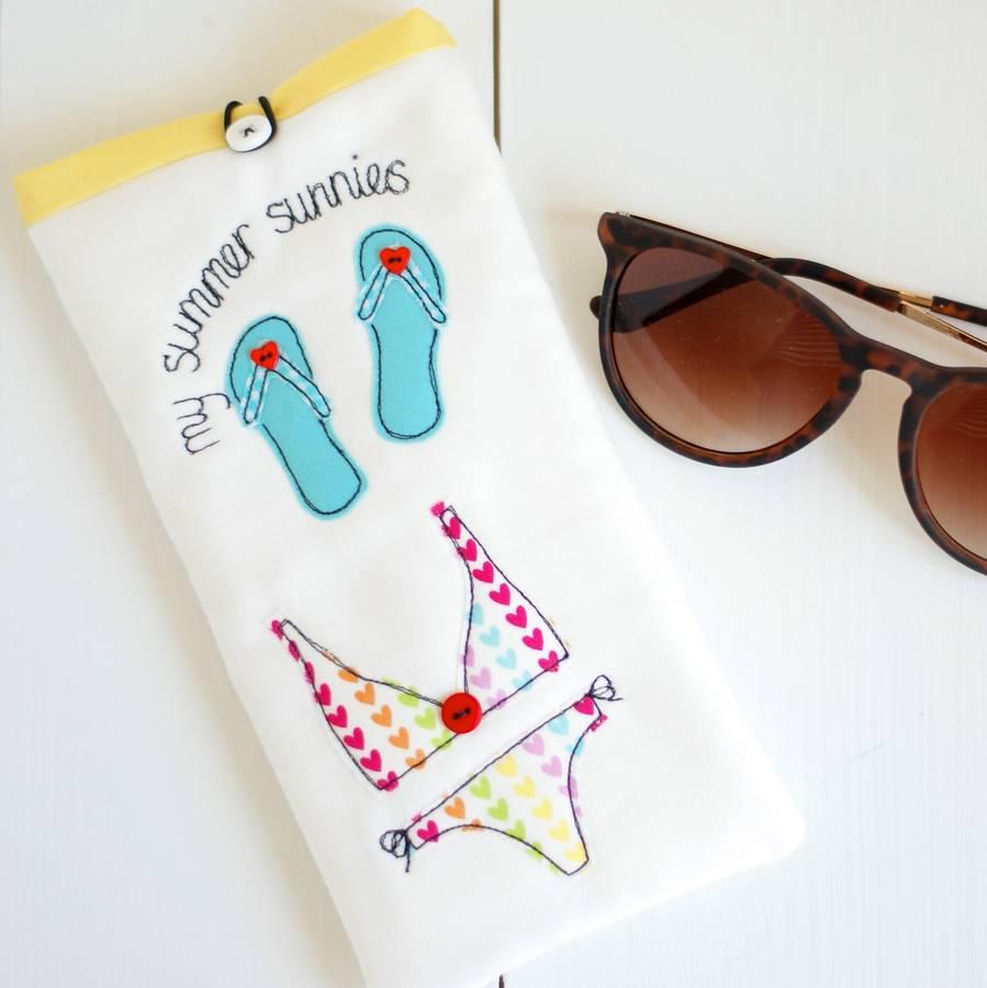 Personalised Summer Sunglasses Case