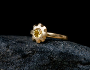 Yellow Sapphire Engagement Ring - engagement rings