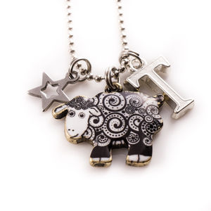 Sheep Charm Necklace - personalised