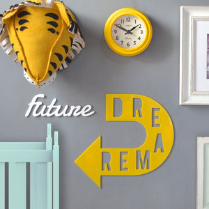 'Future Dreamer' Children's Room Wall Sign