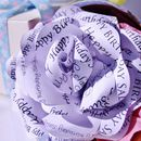 Personalised All Occasions Paper Roses
