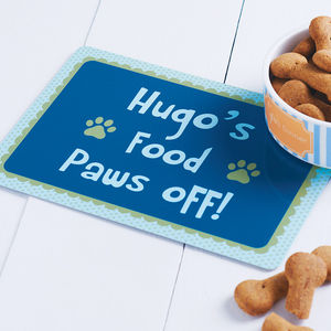 Personalised Pet Food Mat - feeding