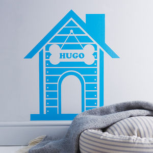 Personalised Dog House Wall Sticker - pet-lover